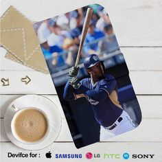 Justin Upton San Diego Padres Baseball Leather Wallet iPhone 4/4S 5S/C 6/6S Plus…