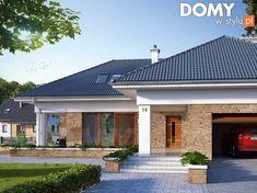Aksamit 2 projekt domu House Outside Design, Small House Design, Modern House Design, Modern Bungalow Exterior, Bungalow House Design, House Plans Mansion, My House Plans, House Plans South Africa, Beautiful House Plans