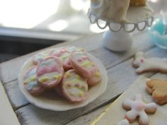 Dollhouse miniature Easter baking cookies and by Kimsminibakery