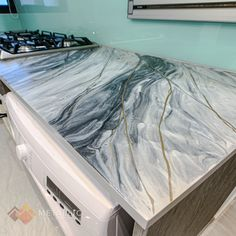 The perfect balance in your kitchen should be simple cabinets and a unique countertop. #MetallicEpoxySG Epoxy Countertop, Countertops, Black Highlights, Epoxy Coating, Singapore, Cabinets, Chrome, Metallic, Design Ideas