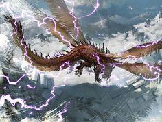 Stormwing Dragon, Svetlin Velinov on ArtStation at https://www.artstation.com/artwork/stormwing-dragon