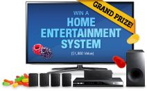 Win a a large screen LED Smart HDTV plus a Blu-ray Home Theater System APV $1800