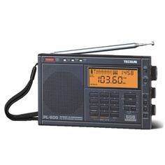 The Tecsun is a LW/MW/FM/SW dual-conversion portable shortwave radio. This radio is noted for exceptional performance for its price. As with most Tecsun radios, the is primarily avail… Radios, Short Waves, Transistor Radio, Office Phone, Pll, Landline Phone, Consumer Electronics, Clock, Band