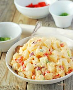 Yucca salad is a delicious twist on popular potato salad. Its creamy and your guest won't even know the difference, instead they will keep coming back for more!