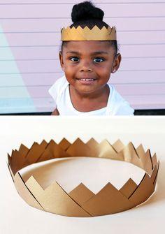 Gold paper crown diy from david morgan via oh sweet babies