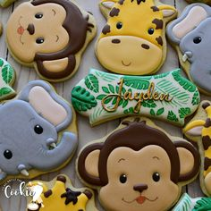 Image may contain: food Safari Theme Birthday, Boys First Birthday Party Ideas, Wild One Birthday Party, Safari Party, Baby First Birthday, Jungle Theme Cakes, Baby Shower Parties, Baby Shower Themes, Baby Showers