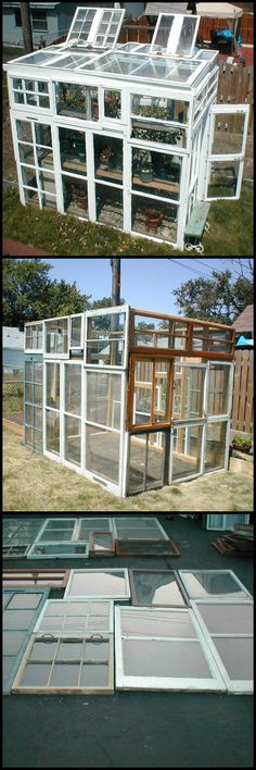 How To Build A Greenhouse From Old Windows http://theownerbuildernetwork.co/ub90 Every day of every week, someone is busy replacing their 'old' timber framed windows with 'whiz-bang, no maintenance' windows. And every day, thousands of glasshouse kits are sold. DIYer, Cheft, made the connection and built a glasshouse from other people's trash.