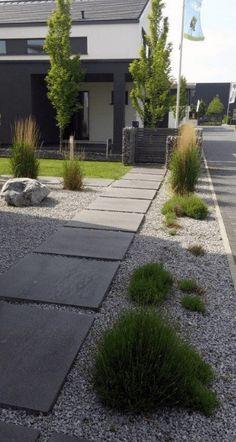 Garden Ideas Garden Crea un bellissimo giardino esterno Modern Front Yard, Front Yard Design, Side Yard Landscaping, Modern Landscaping, Modern Pergola, Design Your Dream House, Landscape Design, Outdoor, Design Ideas