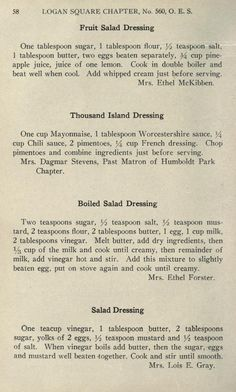 Clippings included in attached envelope Retro Recipes, Old Recipes, Vintage Recipes, Asian Recipes, Recipies, Mayo Salad Dressing, Salad Dressing Recipes, Salad Dressings, Cooking Tips