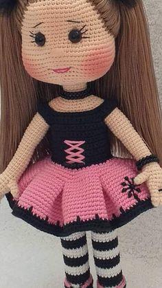 Crochet Bunny Pattern, Crochet Dolls Free Patterns, Baby Knitting Patterns, Doll Patterns, Crochet Hats, Amigurumi Doll, Crochet Animals, Stuffed Toys Patterns, Crochet Projects
