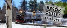 Det är enkelt att ta tåget till Vingåkers Factory Outlet AB. Tåget stannar 200m från vår välfyllda butik.