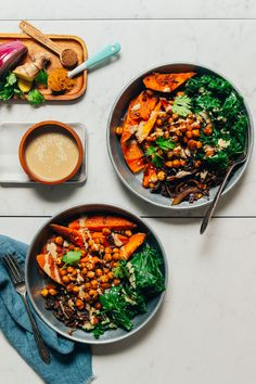 Sheet Pan Dinner Curried Sweet Potatoes Crispy Chickpeas Cabbage and Greens! 1 pan required simple ingredients SO satisfying! Sheet Pan Dinner Curried Sweet Potatoes Crispy Chickpeas Cabbage and Greens! 1 pan required simple ingredients SO satisfying! Chickpea Recipes, Cauliflower Recipes, Vegetarian Recipes, Savoury Recipes, Vegan Meals, Vegan Vegetarian, Yummy Recipes, Crispy Chickpeas, Food Porn