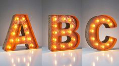 A-Z  Small - Vintage #Marquee Lights - Everyday Art by #JerradGree