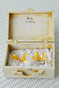 rustic ring bearer box (photo by justin demutiis) #handmade #wedding