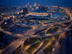 satellite images of new orleans | Aerial of the Superdome in the Downtown New Orleans Posters