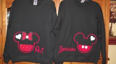 Mickey Mouse Minnie Mouse Disney Couple by MouseHouseShirts