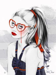'Heartbreaker' (Ojos que no ven, corazón que no siente' // 'Out Of Sight, Out of Heart'  Cover for 100 Grados #12 by ©Cristina Alonso  www.cristinalonso.com