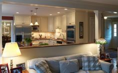 I want to remove the upper half of the wall that separates my kitchen and living room!!