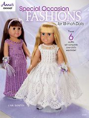 Crochet - Special Occasion Fashions for 18-inch Dolls - #871606