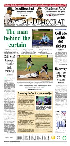 Appeal-Democrat front page for Thursday, August 1, 2013.