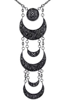Restyle - Runic Moon Long Necklace