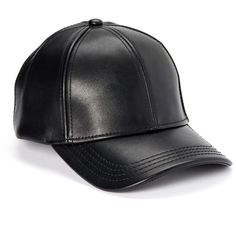 a04d519b C.C® Black Faux Leather Baseball Cap ($15) ❤ liked on Polyvore featuring  accessories