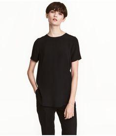 Top Black Rayon H&M