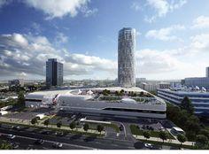 Astăzi s-a inaugurat Sky Tower, cea mai înaltă clădire din România Capital Of Romania, Bucharest Romania, Shopping Center, Burj Khalifa, Art Of Living, Marina Bay Sands, Night Life, Mall, Skyscraper
