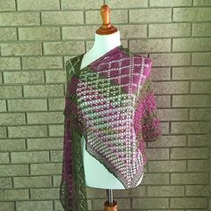 Mystic Junction by Anna Dalvi - knit this beautiful fingering weight shawl with Indigodragonfly sock yarn!