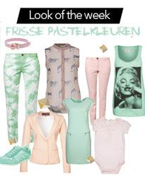 Look of the week: Frisse pastelkleuren