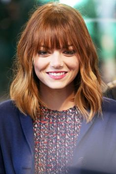 Emma Stone's Bangs Are Pure Hair Magic #Refinery29
