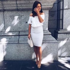 We love Ash wearing the Antoinette Top, Body Con Midi Skirt and Liya Clutch, available in Boutiques & Online xx #kookai