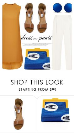 """Trend Now: Dress Over Pants"" by makeupgoddess ❤ liked on Polyvore featuring Steve Madden, SCENERY and Matthew Williamson"