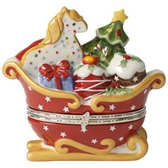 Winter Bakery Decoration Treat Schlitten rot 9,5x10cm - Villeroy & Boch