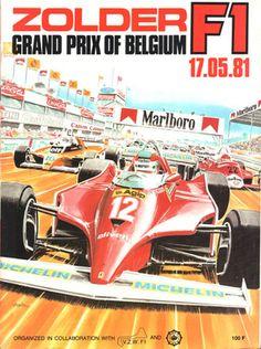 Grand Prix of Belgium 1981 Sport Cars, Race Cars, Belgium Grand Prix, F1 Posters, Ap 12, Gilles Villeneuve, Formula 1, Racing Events, Ferrari