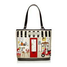 """Lulu Guinness is one of my perennial favorites, and this season is no disappointment! I love how she can still keep coming up with new designs in the """"shop"""" concept. Cute Purses, Purses And Bags, Creative Bag, Novelty Bags, Geek Fashion, Fall Fashion, Painted Bags, Flamboyant, Lulu Guinness"""