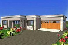 free flat roof house plan zambian - - Yahoo Image Search Results Flat Roof House Designs, Flat Roof Design, House Roof Design, House Outside Design, Facade House, Round House Plans, Tuscan House Plans, Free House Plans, Family House Plans
