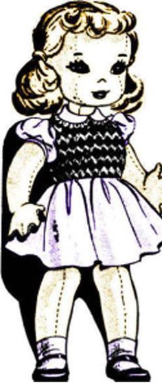 25 Free Cloth Doll Patterns Tutorials: public domain: Click on pattern you want for PDF download