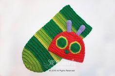 Hungry Caterpillar Hat and Cocoon crochet pattern - Allcrochetpatterns.net