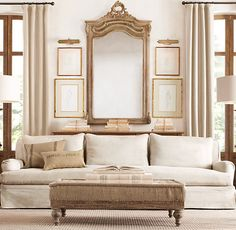 Sophisticated living room from Restoration Hardware Home Living Room, Room Design, Interior, Home Furnishings, Home Decor, French Country Living Room, Interior Design, Home And Living, Living Room Designs