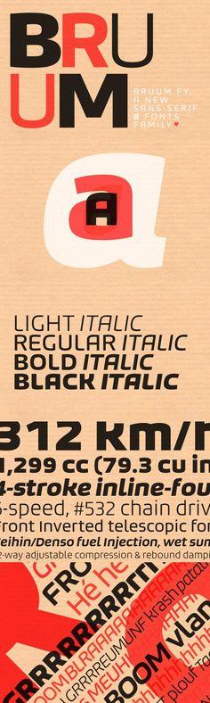 Bruum FY Family (8 fonts). Sans Serif Fonts. $220.00