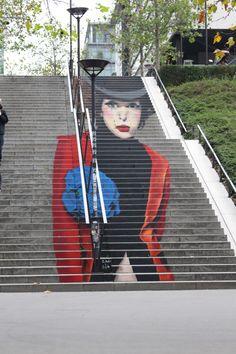 Mural by Zag & Sia in Paris 13th district. Fresque de Zag & Sia dans le 13ème arrondissement de Paris.