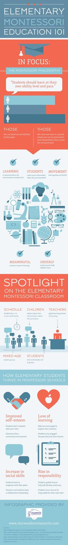 Need a Montessori inforgraphic, here are 21 of the best on the web   montessori   education   infographic  