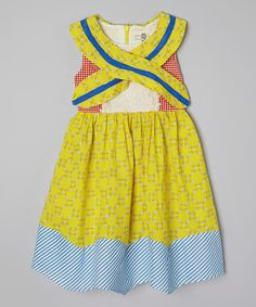 Look at this Yellow Floral & Stripe Dress - Toddler & Girls on #zulily today!