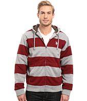 Rugby Stripe Fleece Hoodie U.S. POLO ASSN.