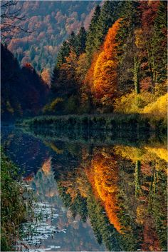 Autumn at Doubs on the Swiss and French Border
