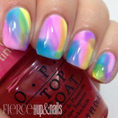 Fierce Makeup and Nails: OPI Sheer Tints Watercolor Mani #SheerTints