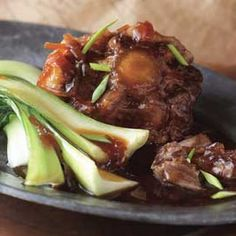 Braised Oxtails with Star Anise and Chinese Greens Recipe with oxtails ...