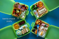 Tupperware product! I sell these cute green sandwich containers if anyone wants to place an order with me. Cute Bento box idea!
