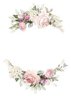 Floral Design set by LisimArt on Fond Design, Floral Design, Design Set, Flower Frame, Flower Art, Wedding Cards, Wedding Invitations, Flower Background Wallpaper, Vintage Flower Backgrounds